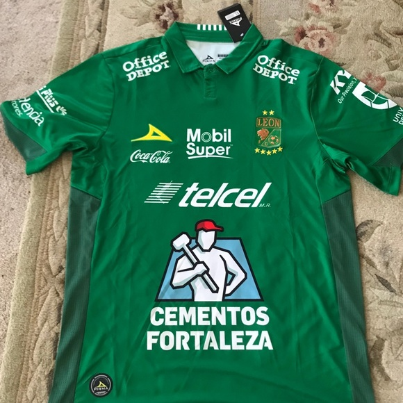 premium selection cdd16 1cbb8 Club Leon Fc soccer home jersey NWT